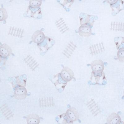 Imagem 2 do produto Jogo de lençol para berço em malha Ovelhinha Azul - Petit