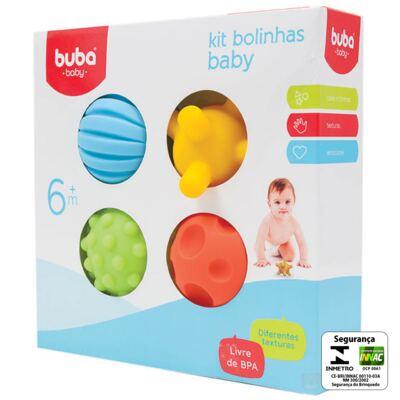 Imagem 2 do produto Kit 4 Bolinhas Coloridas (6m+) - Buba