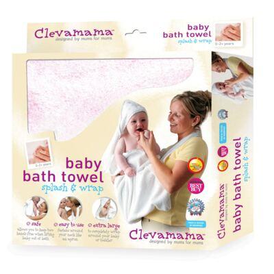 Imagem 3 do produto Kit: 2 Toalhas Mamãe Bebê com capuz Branca e Rosa - Clevamama