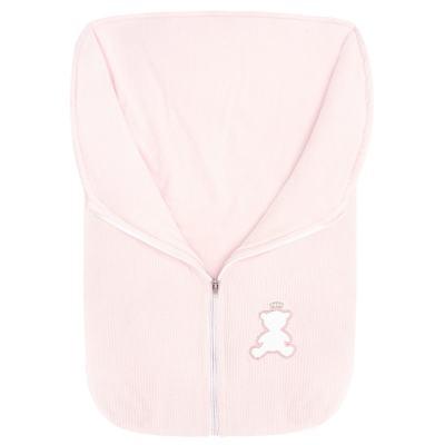 Saco de dormir em plush cotelê Honey Bear Pink - Baby Classic