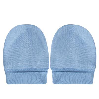 Imagem 4 do produto Kit c/ Touca, Luva e Sapatinho para bebe em malha Azul - Pingo Lelê
