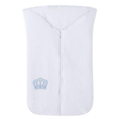 Imagem 1 do produto Saco de dormir para bebe em suedine matelassado Coroa Azul - Petit