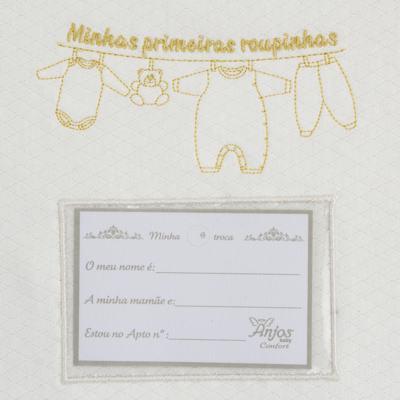 Imagem 5 do produto Kit 3 Saquinhos para maternidade Minhas Primeiras Roupinhas Queen - Anjos Baby