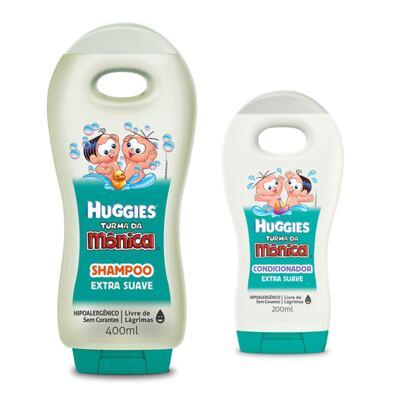Shampoo Turma da Mônica 400ml Extra Suave + Condicionador Turma da Mônica 200ml Extra Suave
