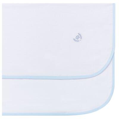 Imagem 1 do produto Cueiro para bebe em flanela Coroinha Azul - Classic for Baby