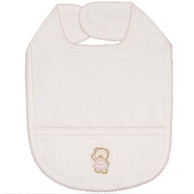 Imagem 1 do produto Babador atoalhado Pink Baby Bear - Classic for Baby
