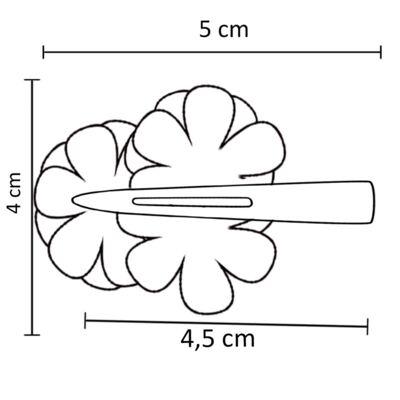 Imagem 3 do produto Presilha Mini Flores Pérolas & Strass Bordô - Roana