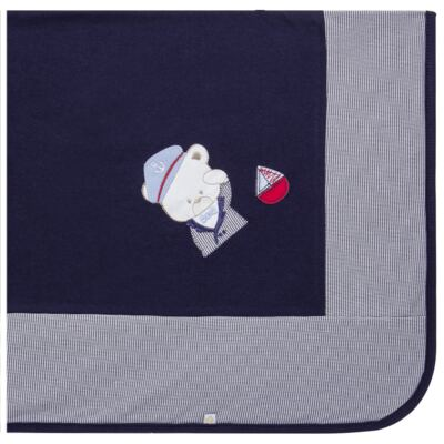 Imagem 5 do produto Jogo Maternidade para bebê: Macacão Suspensório e Manta em suedine Benjamin - Beth Bebê