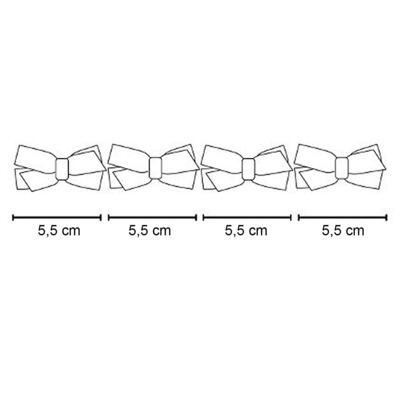 Imagem 2 do produto Kit: 4 Maxi Laços adesivos Dourado/Bordô - Roana