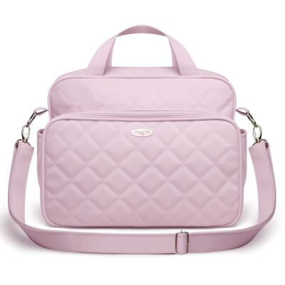 Imagem 3 do produto Kit Mala maternidade + Bolsa M + Frasqueira Miami Golden Clean Rosa - Classic for Baby Bags