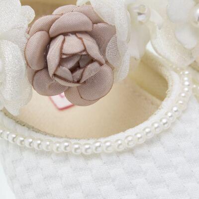 Imagem 2 do produto Sapatilha para bebe em cetim Flores - Roana