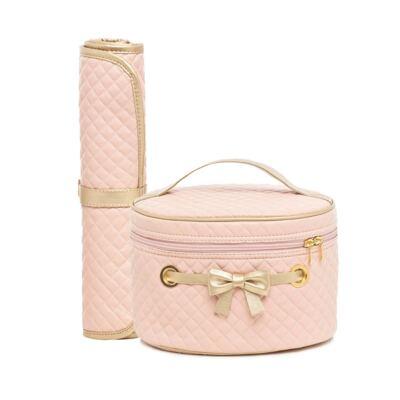 Mini Bolsa + Trocador para bebe Louise Rosa - Lequiqui