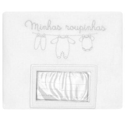 Imagem 2 do produto Kit 3 Saquinhos para maternidade Minhas Primeiras Roupinhas Branco - Petit