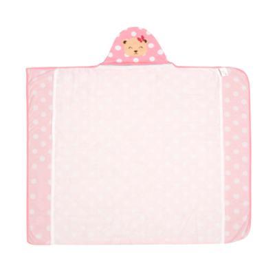 Imagem 1 do produto Toalha com capuz para bebe Ursinha Rosa Poá - Pingo Lelê