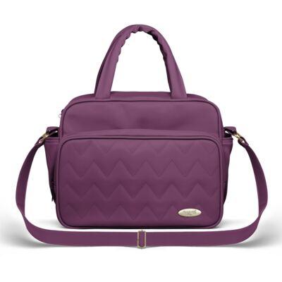 Imagem 1 do produto Bolsa Térmica para bebe Trento Chevron Ametista - Classic for Baby Bags