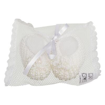 Imagem 3 do produto Sapatinho para bebe em tricot Mini Pérolas Marfim - Roana
