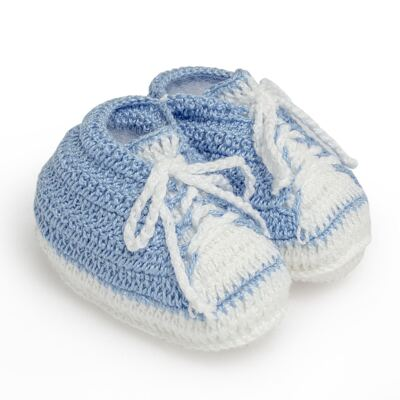 Imagem 2 do produto Tênis em tricot Azul/Branco - Roana