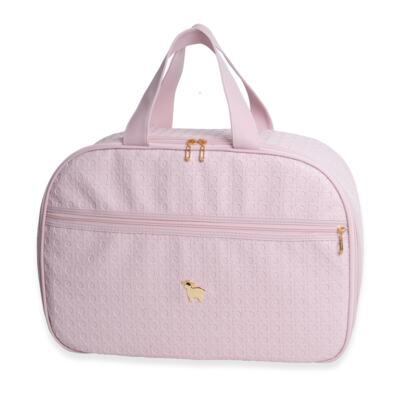 Imagem 2 do produto Mala maternidade para bebe + Bolsa maternidade + Frasqueira térmica + Porta Mamadeira Tressê Rosa - Majov