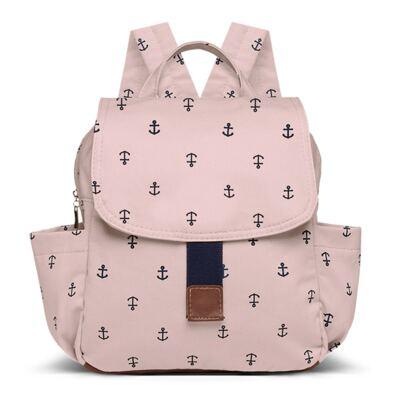 Imagem 1 do produto Mochila maternidade Classic em sarja Navy Rosa - Classic for Baby Bags