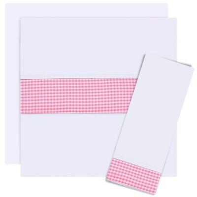 Jogo de lençol para berço em malha Le Petit Rosa - Classic for Baby