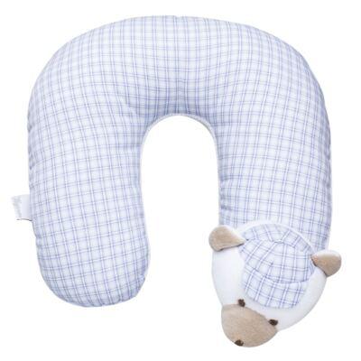 Protetor de pescoço para bebe Ursinho Xadrez - Anjos Baby