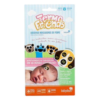 Imagem 1 do produto Adesivo termômetro para bebês Termo Friends (4un) - Babydeas - 165707 Termofriends 4 unidades