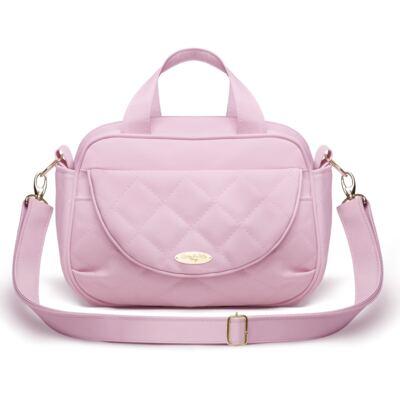Imagem 1 do produto Bolsa Siena Golden Clean Rosa - Classic for Baby Bags