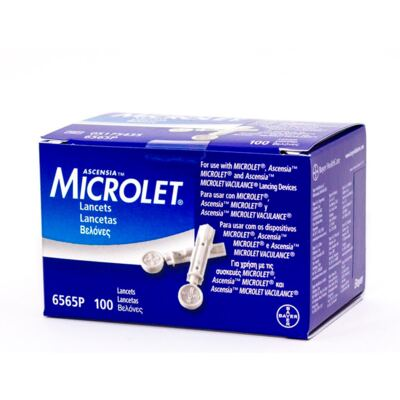 Imagem 3 do produto Kit Bayer Lancetas Microlet 100 Unidades + Contour TS 100 Tiras