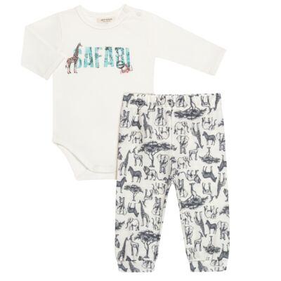 Body longo c/ Calça (Mijão) para bebe em viscomfort Safari - Petit - 17064308 CJ BODY M/L MIJAO PE REV COTTON/VIS SAFARI-GG