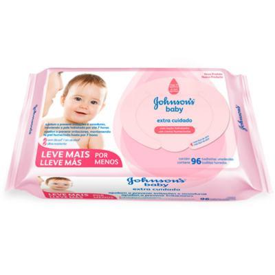 Lenço Umedecido Johnson´s Baby Extra Cuidado 96 Unidades