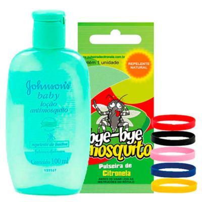 Repelente Johnson's Baby Loção Antimosquito 100ml + Pulseira Bye-Bye Mosquito