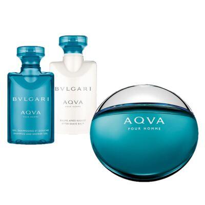 Imagem 2 do produto Aqva Pour Homme BVLGARI - Masculino - Eau de Toilette - Perfume + Gel de Banho + Pós Barba - Kit