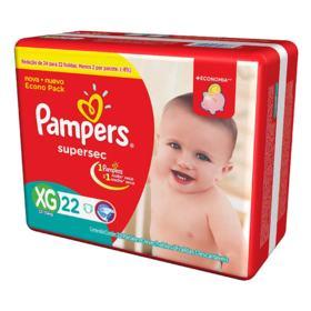Fralda Pampers Supersec Economica - XG | 22 unidades