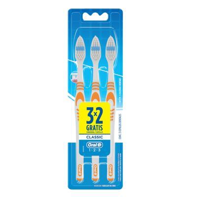 Imagem 1 do produto Escova Dental Oral-B Classic 40 Macia 3 Unidades