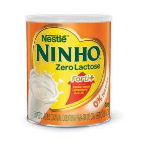Composto Lácteo Ninho Forti+ Zero Lactose - lata, 380g