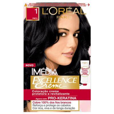 Imagem 1 do produto Tintura Imédia L'Oréal 1 Preto