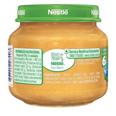 Imagem 3 do produto Papinha Nestlé Carne Cenoura Batata Mandioquinha 115g