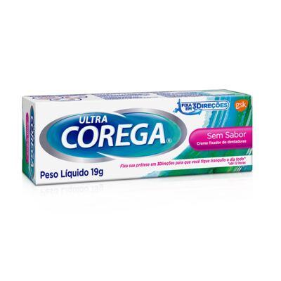 Imagem 1 do produto Fixador de Dentadura Ultra Corega Creme Sem Sabor 19g