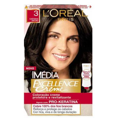 Imagem 1 do produto Tintura Imédia L'Oréal 3 Castanho Escuro