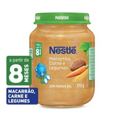 Imagem 1 do produto Papinha Nestlé Macarrão Carne e Legumes 170g