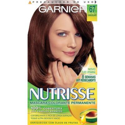Imagem 1 do produto Tintura Garnier Nutrisse 67 Chocolate Louro Escuro Dourado