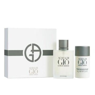 Acqua Di Gio pour Homme Giorgio Armani - Masculino - Eau de Toilette - Perfume + Desodorante - Kit