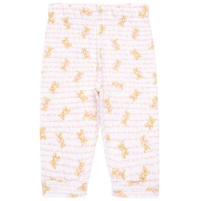 Imagem 3 do produto Body longo com Calça para bebe em algodão egípcio c/ jato de cerâmica e filtro solar fps 50 Pink Bear - Mini & Kids - URSINHAS-M