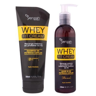 Imagem 1 do produto Kit Shampoo + Leave-In Yenzah Power Whey Fit Cream - Kit