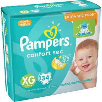 Imagem 5 do produto Fralda Pampers Confort Sec - XG, 34 unidades -