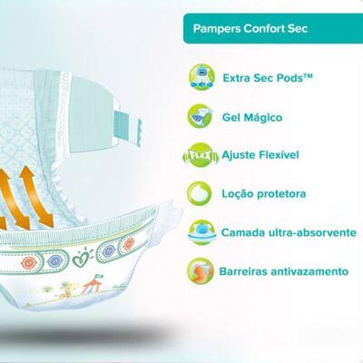Imagem 2 do produto Fralda Pampers Confort Sec Tamanho RN - 20 unidades
