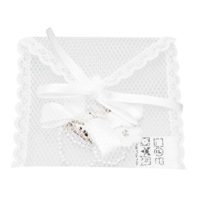 Imagem 3 do produto Prendedor de chupeta Laço & Flor Pérolas Branco - Roana