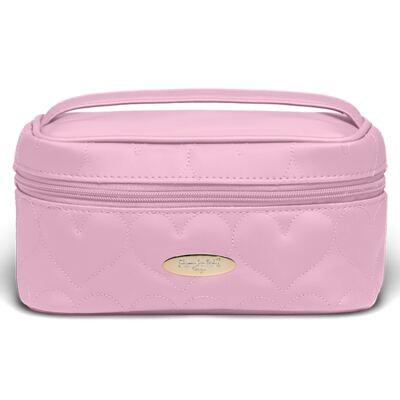 Imagem 2 do produto Necessaire Farmacinha Corações Matelassê Rosa + Kit Granado Bebê - Classic For Baby Bags & Granado