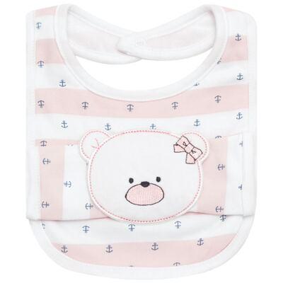 Imagem 1 do produto Babador com fraldinha de boca Pink Captain - Classic for Baby