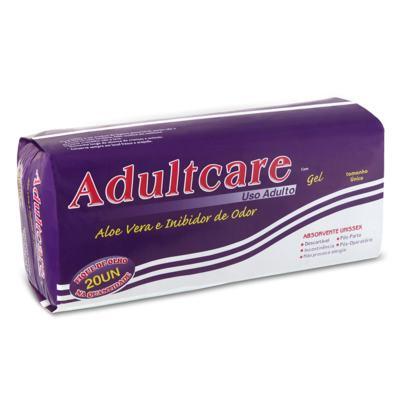 Imagem 1 do produto Absorvente Geriátrico Adultcare 20 unidades
